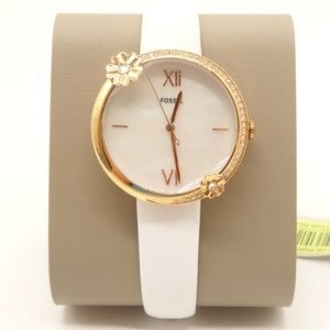 NWT FOSSIL Jacqueline Leather Glitz Dial Watch